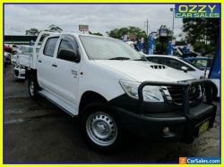 2015 Toyota Hilux KUN26R MY14 SR (4x4) White 5 SP AUTOMATIC Double C/Chas