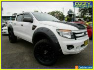 2013 Ford Ranger PX XL 3.2 (4x4) White Automatic 6sp A Dual Cab Utility