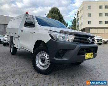 2017 Toyota Hilux GUN125R Workmate (4x4) White Automatic 6sp A Cab Chassis for Sale