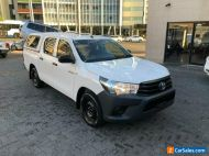 2016 Toyota Hilux TGN121R Workmate White Automatic 6sp A Dual Cab Utility