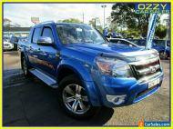 2011 Ford Ranger PK Wildtrak (4x4) Blue 5 SP AUTOMATIC Dual Cab Pick-up