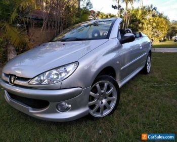 Auction Highest Bidder! Peugeot 206 cc Convertible 2.0 5 spd manual in Platinum for Sale