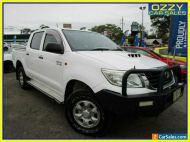 2013 Toyota Hilux KUN26R MY12 SR (4x4) White Automatic 4sp A Dual Cab Pick-up