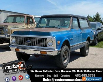1972 Chevrolet Blazer K5 4x4, 350 V8, Auto, AC, 1 Owner, Blue Ext & Int. for Sale