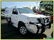 2009 Toyota Hilux KUN26R 09 Upgrade SR (4x4) Glacier White Automatic 4sp A