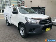2016 Toyota Hilux GUN125R Workmate (4x4) White Automatic 6sp A Cab Chassis