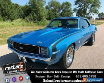 1969 Chevrolet Camaro RSSS 327 Auto, AC, Metallic Blue, Fully Restored for Sale