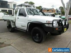 2001 Nissan Patrol GU DX (4x4) White Manual 5sp M Leaf Cab Chassis