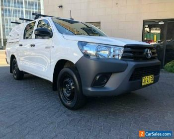2017 Toyota Hilux TGN121R MY17 Workmate White Automatic 6sp A Dual Cab Utility for Sale