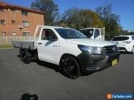 2018 Toyota Hilux TGN121R MY19 Workmate White Automatic 6sp A Cab Chassis