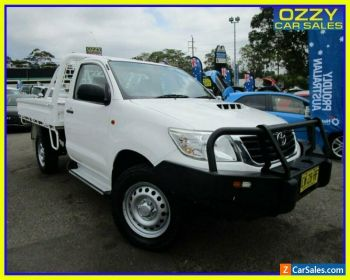 2015 Toyota Hilux KUN26R MY14 SR (4x4) Glacier White 5 SP AUTOMATIC Cab Chassis for Sale