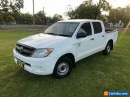 2006 Toyota Hilux TGN16R Workmate White Manual 5sp M Dual Cab Pick-up