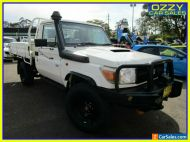 2013 Toyota Landcruiser VDJ79R MY12 Update Workmate (4x4) White Manual 5sp M