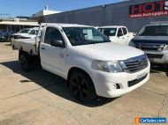 2013 Toyota Hilux TGN16R Workmate White Manual M Cab Chassis
