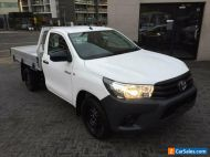 2016 Toyota Hilux TGN121R Workmate White Automatic 6sp A Cab Chassis