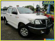 2012 Toyota Hilux KUN26R MY12 SR (4x4) White Automatic 4sp A Dual Cab Pick-up
