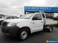 2011 Toyota Hilux TGN16R MY12 Workmate White Manual 5sp M Cab Chassis