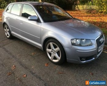 Audi A3 2.0 TDI S-Line Sportback 140BHP in Akoya Silver with lack S-Line Leather for Sale