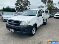 2010 Toyota Hilux TGN16R 09 Upgrade Workmate White Manual 5sp M Cab Chassis