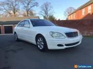 2005 MERCEDES S CLASS W220 S500 L V8 RARE SPEC IN WHITE JAPAN IMPORT
