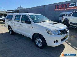 2013 Toyota Hilux KUN16R SR White Manual M Utility