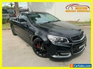 2015 Holden Ute VF MY15 SS V Ute Extended Cab 2dr Man 6sp 6.0i Black Manual M