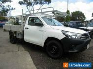 2018 Toyota Hilux TGN16R MY19 Workmate White Automatic 4sp A Cab Chassis
