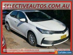 2019 Toyota Corolla ZRE172R MY17 Ascent White Automatic 7sp A Sedan