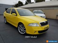 2009 Skoda Octavia 1Z MY09 RS Liftback 5dr Man 6sp 2.0T Yellow Manual M