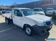 2014 Toyota Hilux TGN16R Workmate White Manual M Cab Chassis