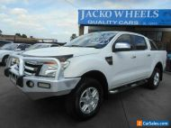 2012 Ford Ranger PX XLT 3.2 (4x4) White Automatic 6sp A Double Cab Pick Up