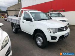 2013 Mitsubishi Triton MN GLX Cab Chassis Single Cab 2dr Man 5sp 4x2 2.5DT [MY14