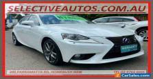 2014 Lexus IS300H AVE30R Luxury Hybrid White Automatic A Sedan