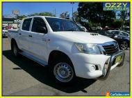 2015 Toyota Hilux KUN26R MY14 SR (4x4) Glacier White 5 SP AUTOMATIC