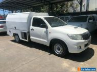 2012 Toyota Hilux KUN16R MY12 SR White Manual 5sp M Cab Chassis