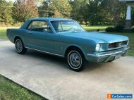 1966 FORD MUSTANG COUPE,TAHOE TURQUOISE A CODE,3 SPEED AUTO,POWER BRAKES,AIR CON
