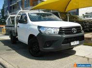2018 Toyota Hilux GUN122R MY19 Workmate White Manual 5sp M Cab Chassis