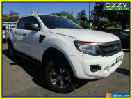 2013 Ford Ranger PX XL 3.2 (4x4) Cool White Manual 6sp M Double Cab Pick Up