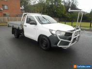 2015 Toyota Hilux TGN121R Workmate White Automatic 6sp A Cab Chassis