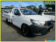 2017 Toyota Hilux TGN121R MY17 Workmate White Manual 5sp M Cab Chassis