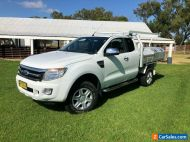 2012 Ford Ranger PX XL 3.2 (4x4) White Manual 6sp M Super Cab Chassis