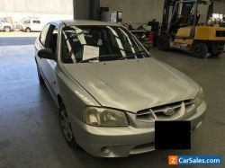 2002 Silver Hyundai Accent Sedan