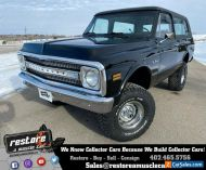 1972 Chevrolet Blazer Cheyenne, 350ci-V8, Auto, 4x4, AC, Black, Restored