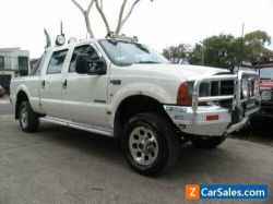 2002 Ford F250 RM XLT (4x4) White Automatic 4sp A Crew Cab Pickup
