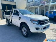 2012 Ford Ranger PX XL White Manual M Cab Chassis