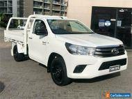 2017 Toyota Hilux GUN123R SR White Manual 5sp M Cab Chassis