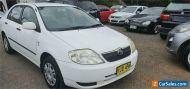 2003 Toyota Corolla ZZE122R Ascent White Automatic 4sp A Sedan
