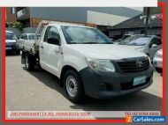 2014 Toyota Hilux TGN16R MY14 Workmate White Automatic 4sp A Cab Chassis