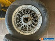 MGA Wire wheels 54 spoke with Michelin tyres qty 4. May suit Austin Healey