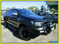 2015 Ford Ranger PX MkII XLT 3.2 (4x4) Black Automatic 6sp A Double Cab Pick Up